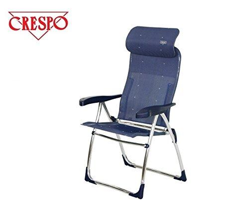 - COMPaCT chaise pliante chaise pliante à 7 positions-sTABIELO chaise de camping - 4,6 kg, léger et chaises de jardin en aluminium - 7 positions-sTABIELO exklusiv-fauteuil à haut dossier couleur-bleu-charge maximale : 110 kg-hOLLY sunshade contre supplément disponible avec hOLLY fÄCHERSCHIRMEN-hOLLY ® produits sTABIELO-innovation fabriqué en allemagne