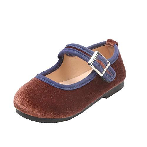 3267a038dc36 Zapatos de Terciopelo para Unisex Niñas Niños Otoño 2018 Moda PAOLIAN  Zapatos de Vestir Boda Merceditas