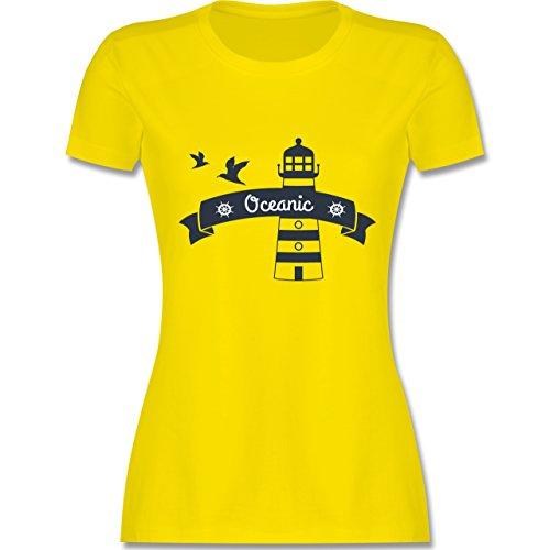 Schiffe - Oceanic Segeln Leuchtturm - tailliertes Premium T-Shirt mit  Rundhalsausschnitt für Damen Lemon