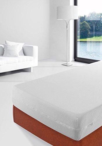 Savel, Funda de colchón Rizo 100% algodón, elástica, ajustable y muy absorbente, 135x190/200cm (para camas de