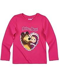 Masha and The Bear Chicas Camiseta mangas largas - fucsia