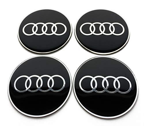 sans Logo Placage Plastique 75 mm Lot de 4 enjoliveurs universels en Alliage de Fibre de Carbone pour moyeu de Voiture pour Mercedes Benz Rim Enjoliveur de Pneu