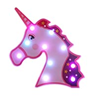 Vimlits Unicorn LED Night Light Lamp Kids Marquee Letter Lights Unicorn Shape Signs Light up Christmas Party Wall Decoration Battery Operated