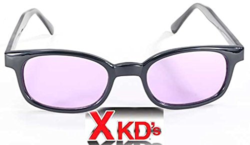 X KD's Sunglasses Purple Lens Motorcycle Sunglasses Large Size UV400 by KD Tool