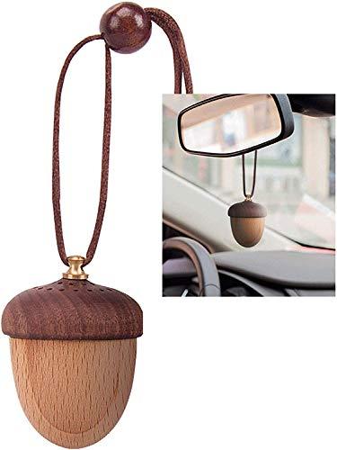 Hivexagon Auto Lufterfrischer Auto Duftspender ätherisches Öl Diffusor Clip Mutter natürlicher Lufterfrischer für Rückspiegel Aromatherapie natürlichen Holz Farbe HA007