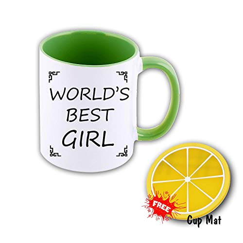 TK.DILIGARM World'S Best Girl Coffee Mugs in Gift