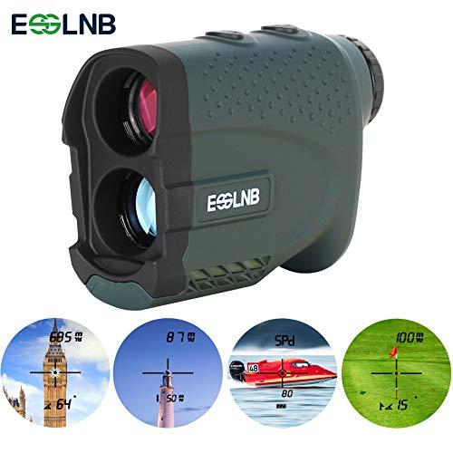 ESSLNB Golf Chasse Laser Telemetre 7X Imperméable Telemetre avec Pente Flagpole-Lock Angle Horizontal Distance Taille Vitesse et Continu Mesure Une Fonction +/- 1M Précision Vibration