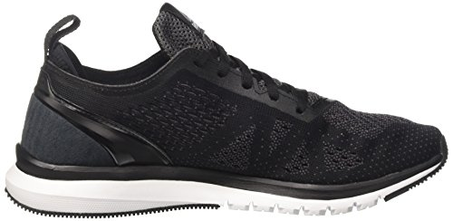 Reebok Herren Print Smooth Clip Ultraknit Laufschuhe Schwarz (Black/ash Grey/coal/white/pewter)