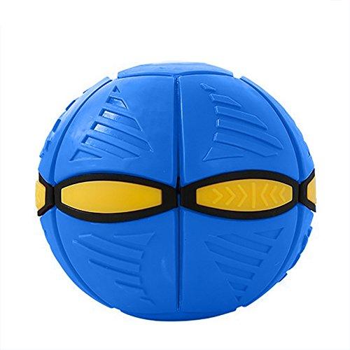 owikar Kinder Flying Discs Spielzeug Verformung UFO Fußball Toys Neuheit Magic Fliegende Untertasse Ball Kinder Outdoor Smart Bouncing flachen Überwurf Ball Toy Spiel für Kinder 'S Christmas Gifts