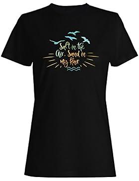 Sal En El Aire Arena En Mi Pelo camiseta de las mujeres n811f