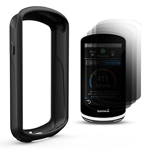 TUSITA Funda protectora para Garmin Edge 1030, Funda protectora de silicona con protector de pantalla para Garmin Edge 1030 GPS Bike Computer (NEGRO)