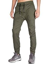 ITALY MORN Pantalón Jogger Slim Fit para Hombre Pantalones Jogging Chándal de Algodón
