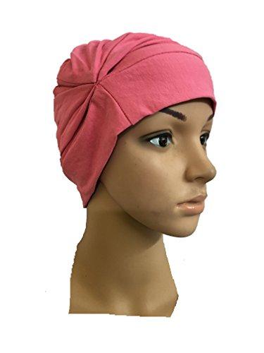 LIGHT PINK CHEMO BEANIES CANCER CAPS WOMEN SUMMER CHEMO CAPS SLEEP TURBAN...