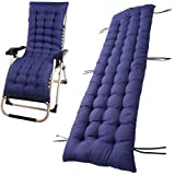 Cuscino Blue con imbottitura spessa per sedia a sdraio reclinabile da giardino