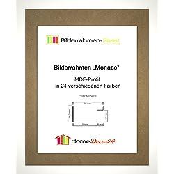 Monaco MDF Bilderrahmen ohne Rundungen 47 x 62 cm Größe wählbar 62 x 47 cm hier: Hochglanz Weiss mit Acrylglas klar 1 mm