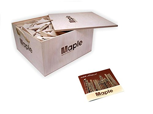 Maple Maple Bauklötze für die psychomotorische Entwicklung 500 Steine (15 mit Logo)