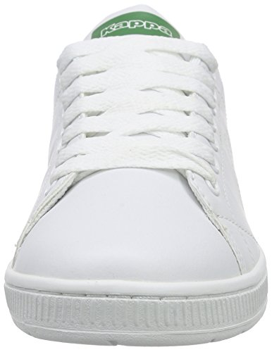 Kappa COURT, Sneakers basses mixte adulte Blanc (White/green)