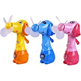 Kurtzy Plastic Gun Spray Play Area Water Game Toy for Kids Children and Pack of 3 Assorted Color