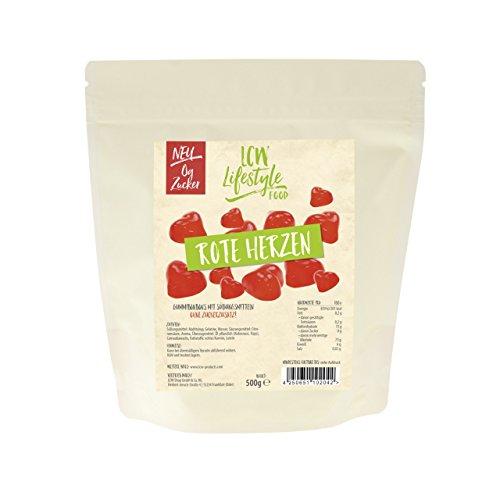LCW Zuckerfreie Gummibärchen Rote Herzen 500g