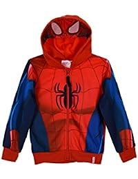 Official Spiderman Marvel Boys Hoodie Hooded Zipped Jumper Sweatshirt 2-8 Years - New 2017/18