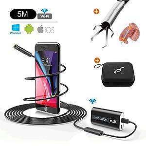 instalacion de camaras: Endoscopio Android USB WiFi Inspección de boroscopio Cámara Impermeable Impermea...