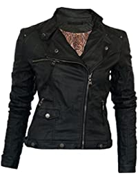 0508 Leichte Damen Lederjacke in 16 Farben Biker Style Vegan Leder