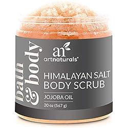 ArtNaturals Himalaya-Salz Körper-Peeling Scrub - (20 Oz / 567g) - Tiefenreinigung und Exfoliation mit Sheabutter und Jojobaöl