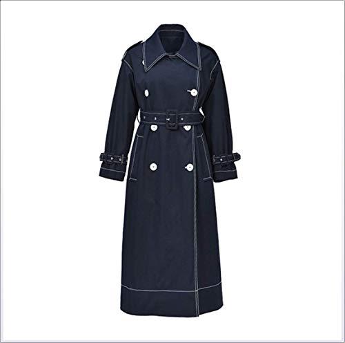Xiaoai's shop Beiläufige lose Lange Windjacke der Frauen, Langer Mantel der Frauen,Schwarz,M