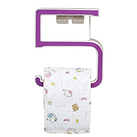 Pingenaneer Numerals 5 Toilet Paper Holder with Phone Self Cover Wall Mounted,Seamless Soap Tray Rack ---Purple