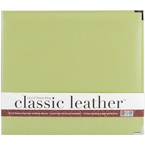 We R Memory Keepers Classic Leder 3 Ring Album 12 Zoll x 12 Zoll Kiwi -