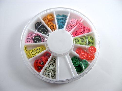 Desire LTD 120Stück Farbe Nail Art Smiley Faces False Nail Tipps Maniküre Make Up Scrapbooking Basteln