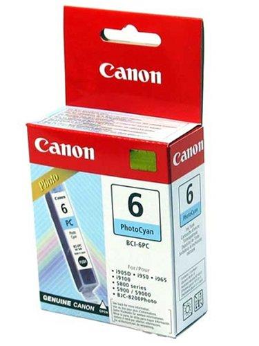 Canon BCI-6PC Cartouche d'encre d'origine Photo Cyan clair