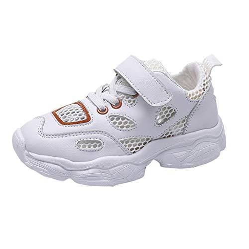 LILIGOD Mode Baby Kinder Schuhe Kind Jungen Mädchen Casual Sneaker Sommer Flacher Klettverschluss Sport Schuhe Neue Single-Schuhe Lässige Sportschuhe aus Mesh für große Kinder -