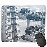 rutschfeste Mausunterlage Rechteck Gummi Mousepad Fitness Hanteln Print Gaming Mouse Pad