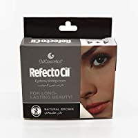 Refectocil Eye Brows Coloring Cream #3 Natural Brown Sachets (1+1 ml) -Pack Of 4