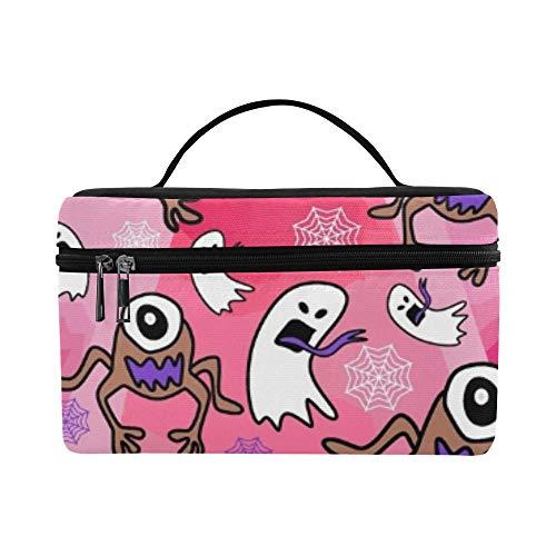 Spooky Handgezeichnete Monster Alien Ghost Lunchbox Tote Bag Lunch Holder Isolierte Lunch Cooler Bag für - Coole 80's Cartoon Kostüm
