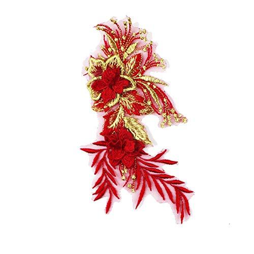 Demarkt Stiefmütterchen dreidimensionale Tuch Aufkleber Gestickte Patch Dekoration Blumenmuster Aufkleber Tang Anzug Cheongsam dekorative Aufkleber DIY handgemachte Aufkleber -
