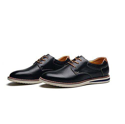 En Ayudar Cabeza Para Redonda De Grrong Cuero Tendencia Negro A Negocios La Los Zapatos Ocasional Hombres Bajos W1Bq6
