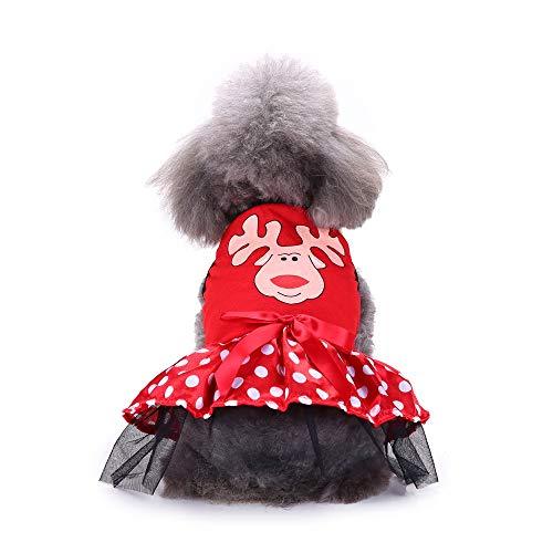 Amakunft Haustier-Tutu für Weihnachten, Süßigkeitenhemd, Grün, für Kleine Hunde