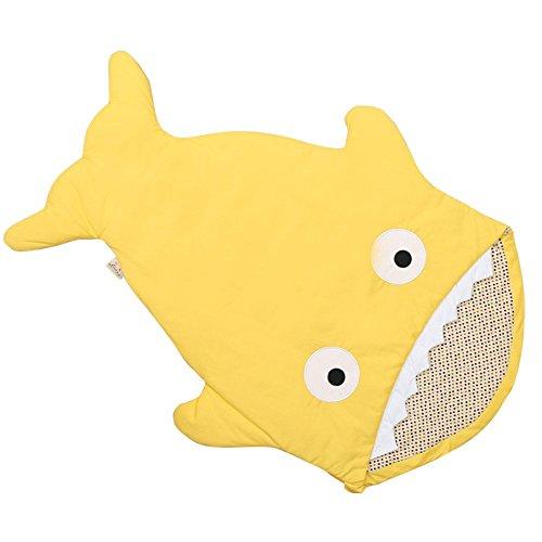 Vine Hai Baby Schlafsack Neugeboren SchlafSäcke Sommer Neugeborene Swaddle  Wrap Shark (Gelb)