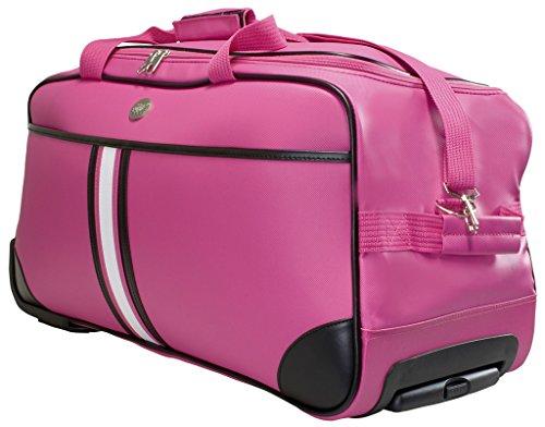 Trolleytasche Weichgepäck ca.70x32x34cm ca.77 Liter Farbe pink Material abwaschbares Tarpaulin Trendyshop365