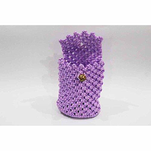 Handloom Cord Small Bag (16 X 14 X 3.5) - Violet