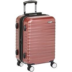 AmazonBasics Valise rigide à roulettes pivotantes de qualité supérieure avec serrure TSA intégrée, Taille cabine 55 cm, Rouge