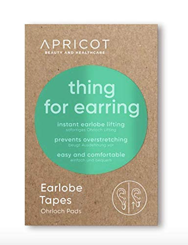 APRICOT SKIN® Earlobe Tapes !NEU! Ohrlochschutz und -Korrektur! Gegen ausgeleierte Ohrläppchen und gerissene Ohrlöcher!