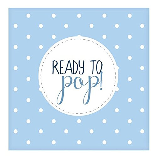 Club Green J017BL Oh Baby Ready To Pop Blue Lunch Napkins  20 pack