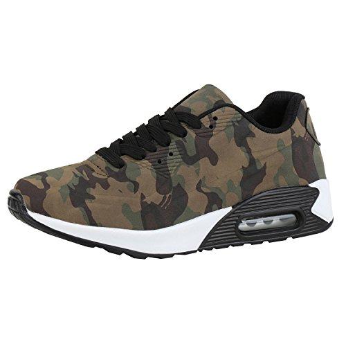 Damen Schuhe Sportschuhe Camouflage Runners Sneakers Laufschuhe Camouflage 38