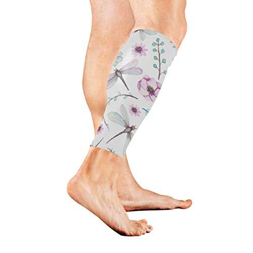 Weiße und schwarze halluzinatorische flüssige Marmorkalb-Kompressions-Hülsen-Bein-Kompressionssocken für Schienbeinschiene-Kalb-Schmerz-Entlastungs-Männer Frauen und Läufer verbessert Kreislauf-Erhol
