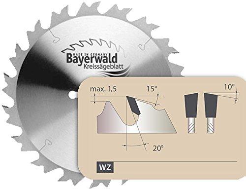 Bayerwald - HM Kreissägeblatt - Ø 250 mm x 3,2 mm x 30 mm   Wechselzahn (24 Zähne)   grobe, schnelle Zuschnitte - Brennholz & Holzwerkstoffe   mit Kombinebenlöchern