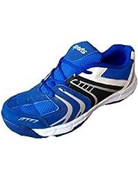Aryans men blue stud cricket shoes (9)