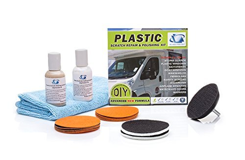 Glass Polish Kunststoff und Acryl Wiederherstellung DIY-Reparatur-Set, entfernt Kratzer, erneuert diesig, Foggy oder Gelb Kunststoffe